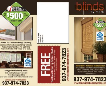 Blinds By Mark Tri-Fold Brochure