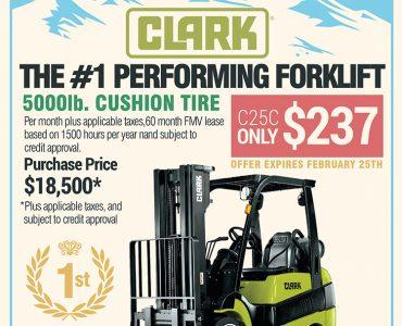 Clark Forklift Advertisement