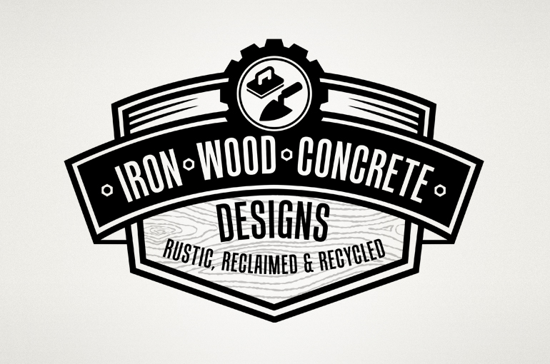 Iron Wood Concrete Designs Logo