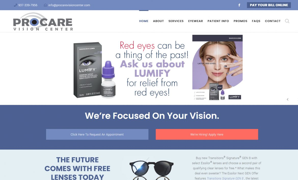 ProCare Vision Center Troy Ohio